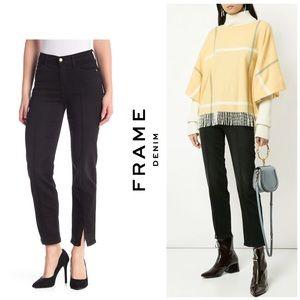 NWT Frame Le Nouveau Straight Fit Ankle Slit Jeans